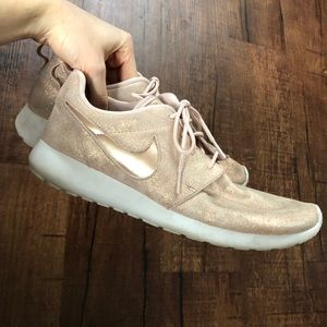 Rose Gold Nike Sneakers Size 9.5 Shimmer Rosie